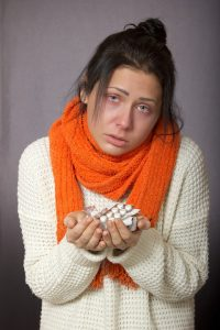 sick girl with a drug problem