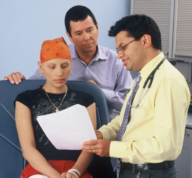 A doctor discussing medical information with a patient